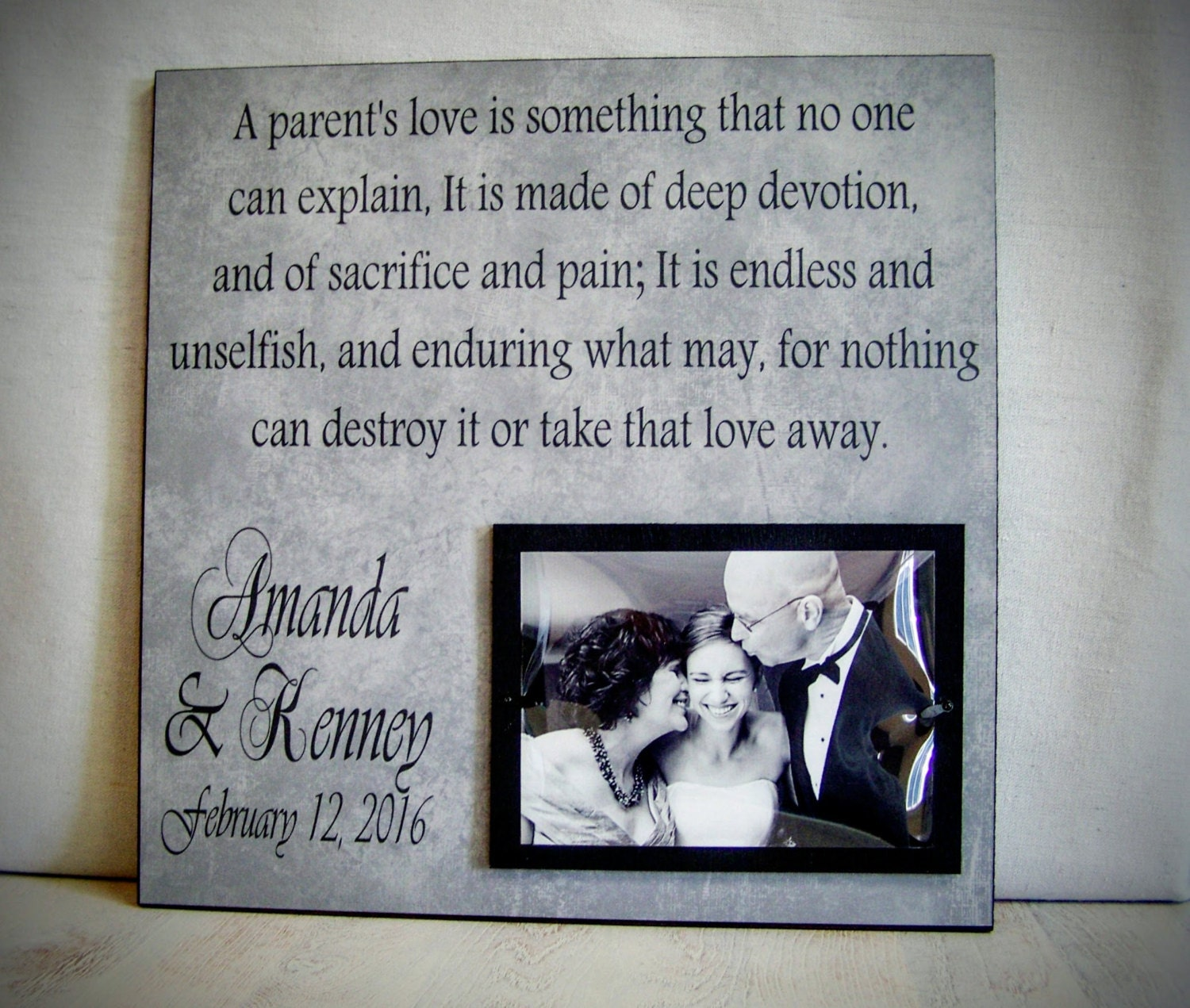 Wedding Gifts Parents: Wedding Gift For Parents Father Of The Bride Mother Of The