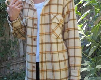 Vintage Plaid Peters Whaler Long Sleeved Shirt Rustic Fashion Men's M
