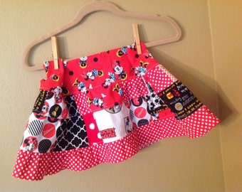 Minnie Mouse skirt 4t/5t (might work for 3t) Mickey Mouse Themed twirl skirt  -  ready to ship - Minnie