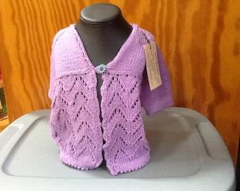 Girls Lavender Sweater