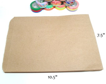 Kraft Bags, Kraft Paper Bags Set of 50