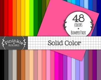 50% OFF SALE Digital Paper, Solid Colour Digital Clip Art, Digital Scrapbook Papers