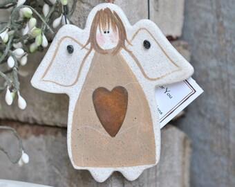 Rustic Angel Salt Dough Ornament