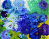 "RESERVED for Ann  16"" x 20"" Blue Solstice by Claire McElveen - Made to order"