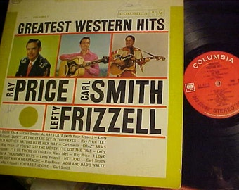 Greatest Western Hits Vol one CS 8776 2eye Price Smith Frizzell