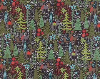 Juniper Berry Reindeer Games in Coal Black, BasicGrey, 100% Cotton, Moda Fabrics, 30430 16
