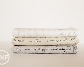 Modern Background Paper Notes Fat Quarter Bundle, 3 Pieces, Brigitte Heitland, Zen Chic, Moda Fabrics, 100% Cotton Fabric, 1581