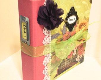Customized Cookbook - Recipe Book - 9x8.5 - Personalized Recipe Book - Handmade Cook Book - Cookbook - Recipe Book
