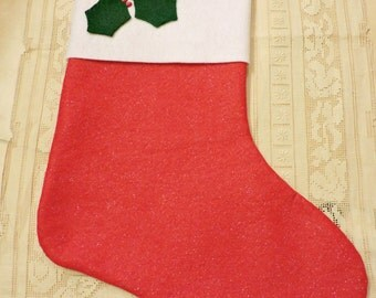 Christmas Stockings Handmade Quilted Vintage Traditional Country