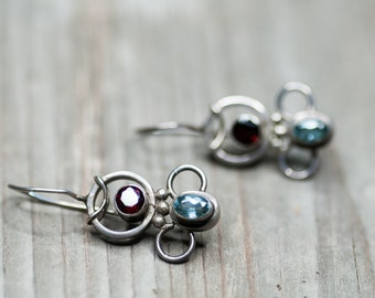 Small Earrings, Funky Earrings, Vintage Earrings, Gift For Daughter, Gift For Mother, Vintage Jewelry, Sterling Silver, Gift For Her