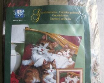 Cat & Kittens Vervaco Needlepoint/Tapestry Kit