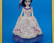 """20%OFF Td Creations DOMINIQUE 15"""" High Fashion Doll - Crochet Doll Dress Clothes Clothing Pattern"""
