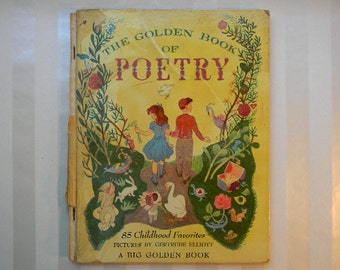 CHILDRENS BOOK, The Golden Book Of Poetry, 1949, Werner, Elliott