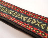Vintage Camera Strap Red Yellow