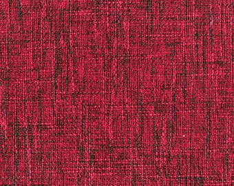 New Multi Dimensional Upholstery Fabric - Melds together texture with the look of linen - Extremely Durable - Color: Deep Pink - Per yard
