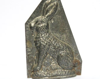 Antique Rabbit Mold: Large Anton Reiche Style Vintage Chocolate Rabbit Mold