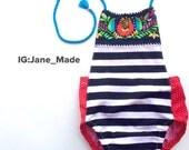 Ready to Ship 2/3 years halter romper