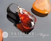 Citrine Briolette Pendant Amber Color Citrine Large Size November Birthstone Gemstone Jewelry