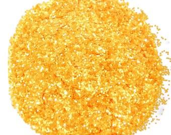 Marigold SOLVENT RESISTANT GLITTER 0.040 Hex - 1 Fl. Ounce for Glitter Nail Art, Glitter Nail Polish & Glitter Crafts