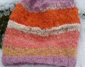 Beaded knit beanie