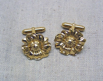 Sunflower Golden Cufflinks