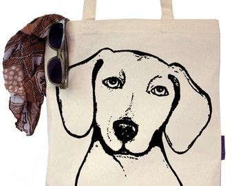 Peabody the Dachshund - Eco-Friendly Tote Bag