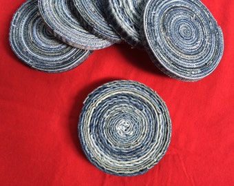 Recycled denim coasters/hot pads/plant pads