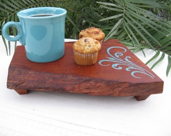 Texas Mesquite Wood Coaster / Cutting Board / Serving Tray / Home Decor (Can be personalized)
