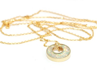 Glitter Box collection Long Layering Necklace - Iridescent