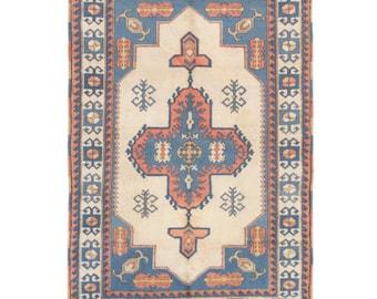 Blue + Tan + Orange rug SALE