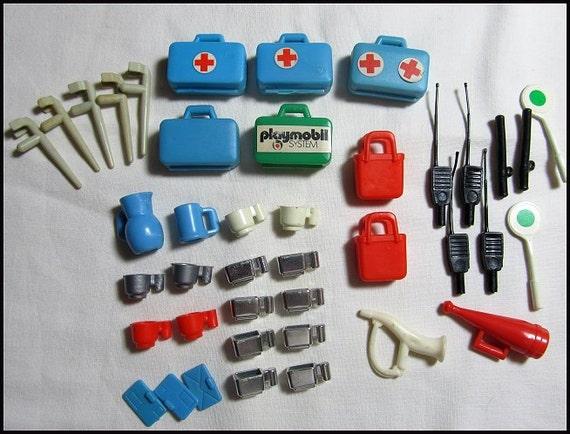 playmobil ambulance hospital accessories vintage geobra toys. Black Bedroom Furniture Sets. Home Design Ideas