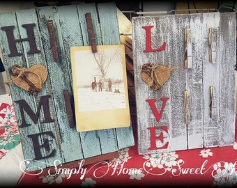 Love Notes Memo or Photo Holder 12x8