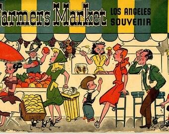 Los Angeles - Farmers Market - Souvenir Photo Album - Early 1950s - Photos - Illustrations
