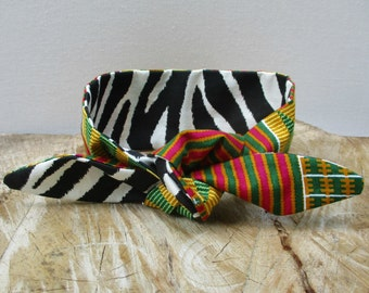Reversible headband, African Print headband, Hairband, Scarf, Hair accessory, Ankara hairband