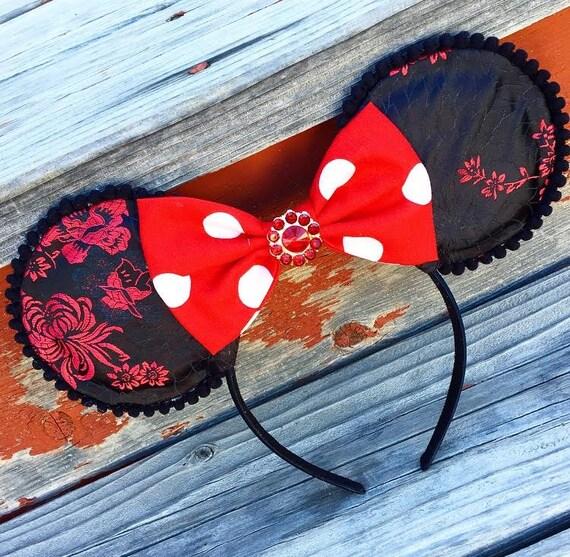 NEW Minnie MouseEars - Black & Red - Minnie Mouse, Mickey Mouse dress-up costume WDW, child woman girl, headband Disneyland, Disney