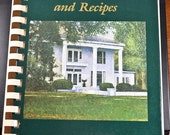 ON SALE Vintage Cookbook, Southern Homes and Recipes, Russell County, Alabama