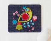 Folk bird, mouse pad