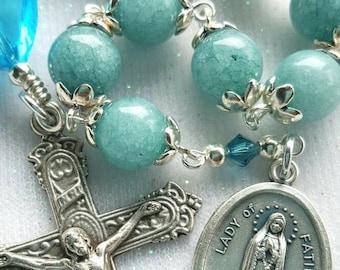 Our Lady of Fatima Rosary - One Decade Rosary - Gemstone Catholic Rosary