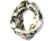 Wild Medicinal Herbs Infinity Scarf - Organic Cotton