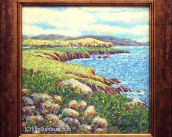 "ON SALE, Ireland Painting, Original Oil Painting, 12 x 12"", ""Dingle Peninsula, Ireland"" by Kim Stenberg, Rich Impressionistic Art, Framed"