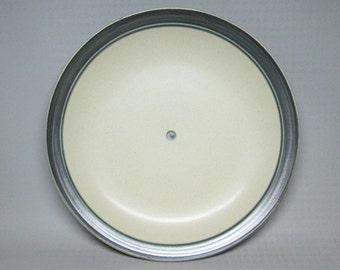 Iron Mountain Stoneware platter / chop plate , huckleberry pattern