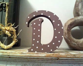 Hand-painted Wooden Letter, D - Freestanding - Victorian Font - Various sizes, finishes and colours - 30cm