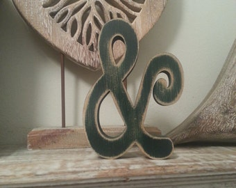Hand-painted Wooden Letter, & Ampersand - Freestanding - Typewriter Font - Various sizes, finishes and colours - 30cm