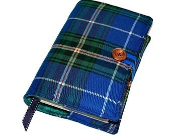 Book Cover Nova Scotia Wool Tartan, Canadian Tartan Bible Cover, UK Seller,