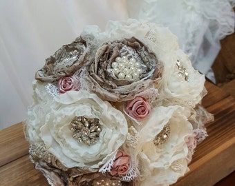 Brooch Bridal Bouquet, Wedding Bouquet