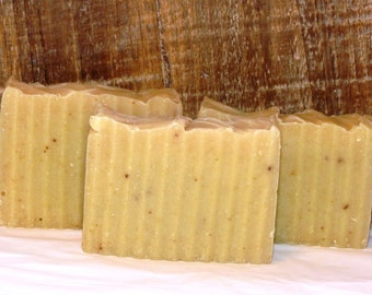 Avocado Almond Milk Cold Process Soap with Fresh Avocado - Fragrance Free