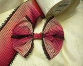 Beautiful Bow Pink And Black Vintage Ribbon