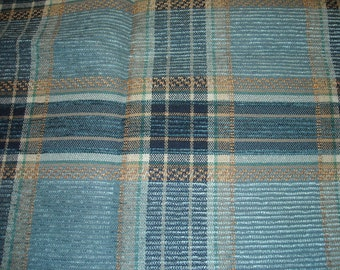 """Fabric Destash, Upholstery fabric,  Blue and Beige, 42"""" by 56"""""""