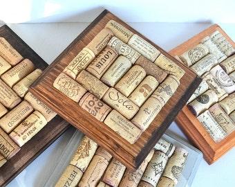 Wine Cork Wooden Trivet