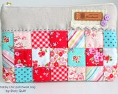 Gift idea | Christmas gift | handmade bag |  make up bag | zipper bag | gift for her | patchwork handbag